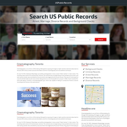 US Public Records Search - Landing Page | Landing page