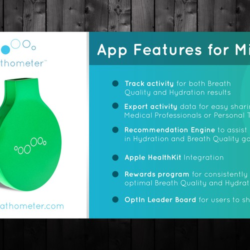 4 HOUR CONTEST - Mint by Breathometer - Indiegogo campaign banner design! Design by Hot_PAPA!!