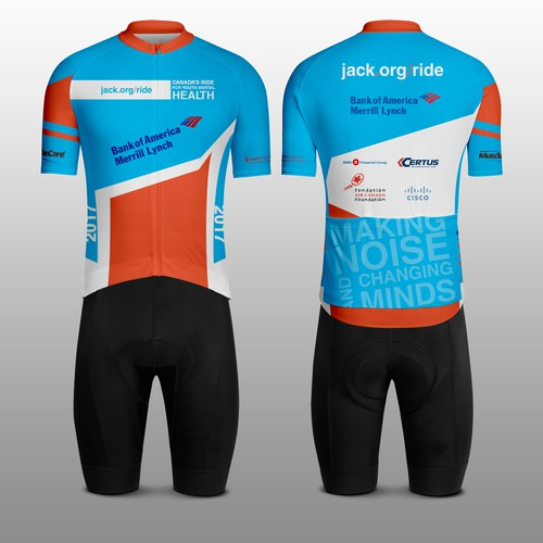 Design Cycling Jerseys for over 900 riders at the 2017 Jack Ride ... 491ea7773