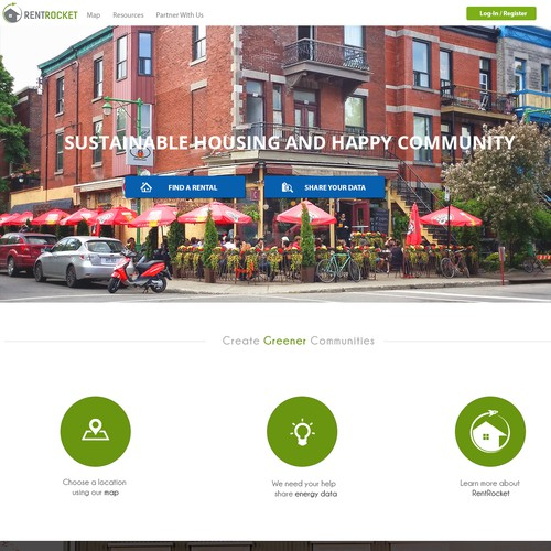 Help Finding Apartments: Create An Engaging Homepage For RentRocket.org, New