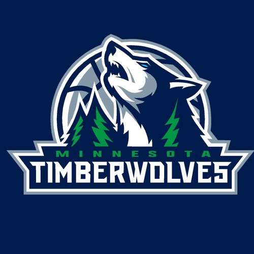 Community Contest: Design a new logo for the Minnesota Timberwolves! Design by fs42158