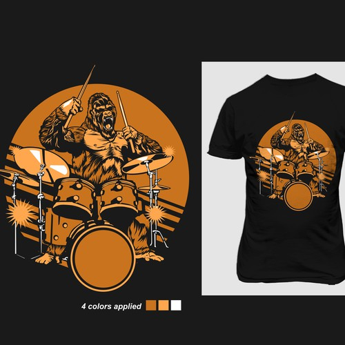 T-shirt designs for t-shirt company. Design by devondad