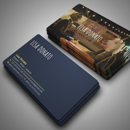 Filmmaker business cards business card contest runner up design by design abc colourmoves