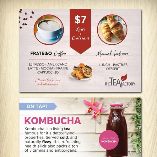 4x6 Postcard for Modern Teashop and Cafe Design by Slowshow Design