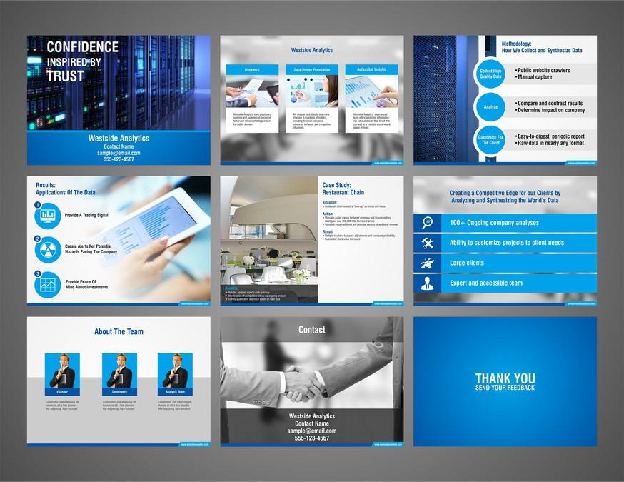 create a sales presentation deck for westside analytics