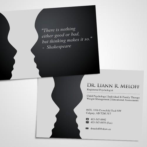 Create a standout business card for a professional psychologist design finalista por anna li reheart Gallery