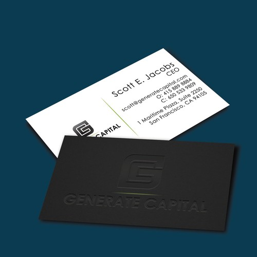 Elegant business card design for innovative investment company design finalista por anadesign reheart Image collections
