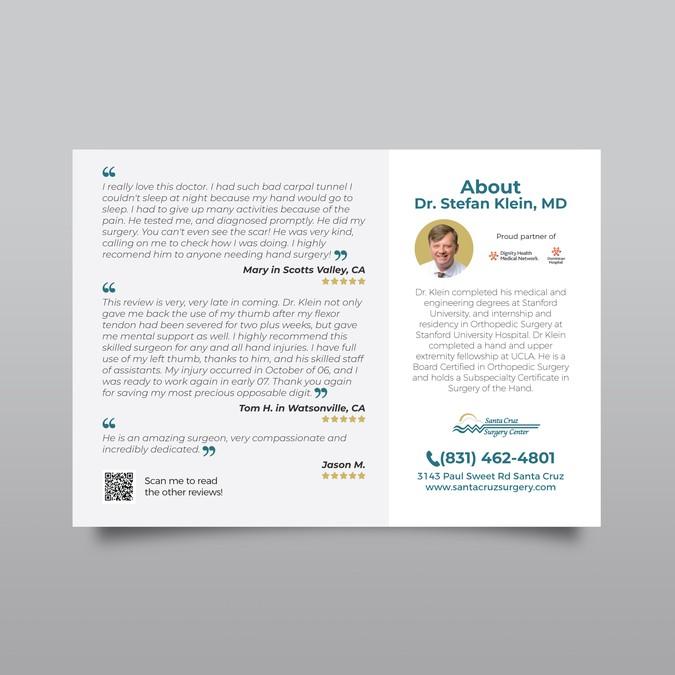 Postcard referral card for orthopedic surgeon | Postcard