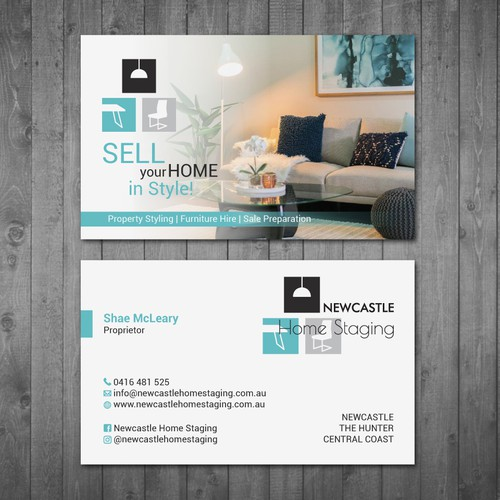 Business Card Newcastle Home Staging Business Card Contest