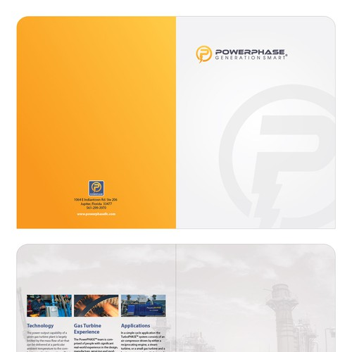 Create a cool folder for industrial company postcard for Best industrial design companies