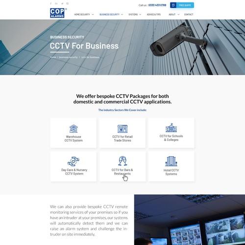 COP Alarms Website Re-Design Design por A Visualland⚡️