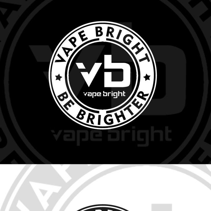 CBD Vape Company Needs Black and White Sticker | Sticker contest