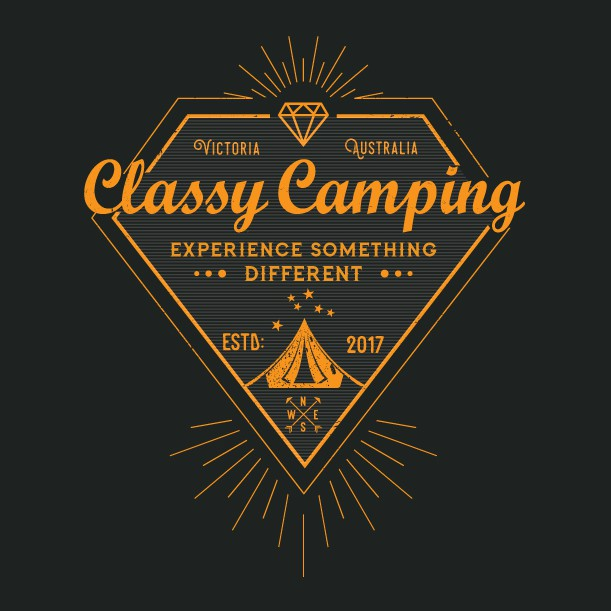 Classy camping logo for a damn classy designer logo for Camping a couture 49