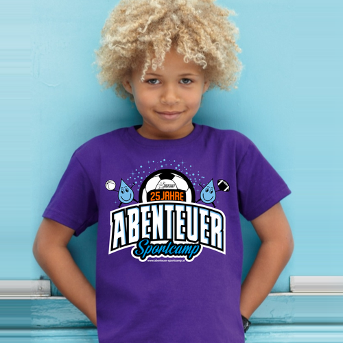 Create a cool summer sports camp shirt for 3000 kids (age 6-12) Design by PakDe28