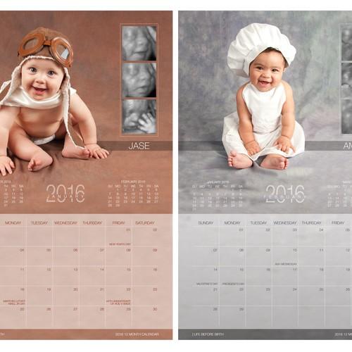Calendar Design Baby : Calendar design babies and their ultrasounds years