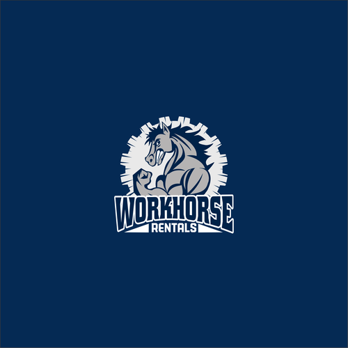 Bad-ass Horse Logo needed for Workhorse Construction Rentals