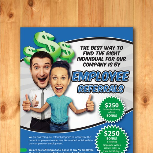 employee referral program flyer postcard flyer or print contest
