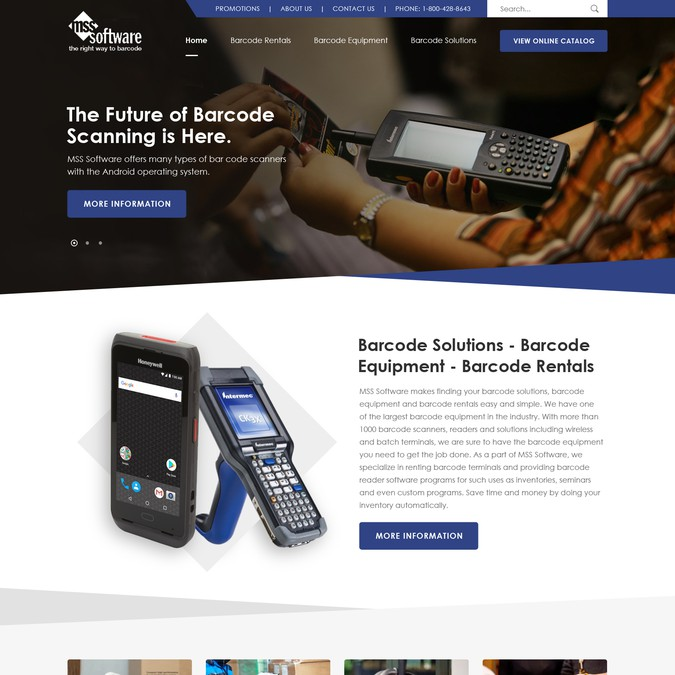Barcode Scanner Solutions Provider Needs Website Redesign | Web page