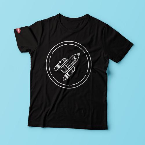 Modern / Edgy - T-Shirt Design for Art School Diseño de Carolina Crespo ✏