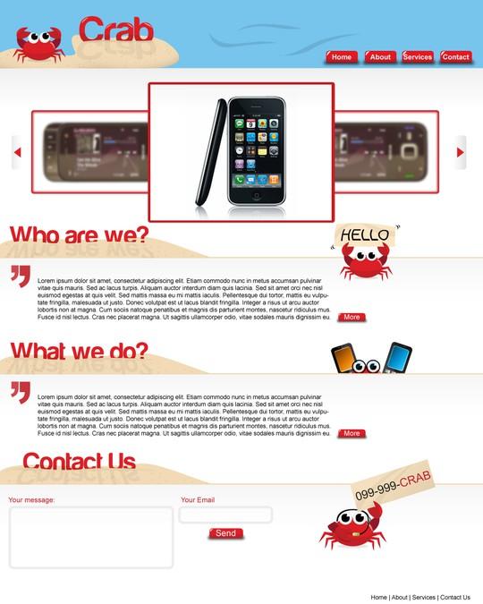 Design vencedor por WebbyShoe
