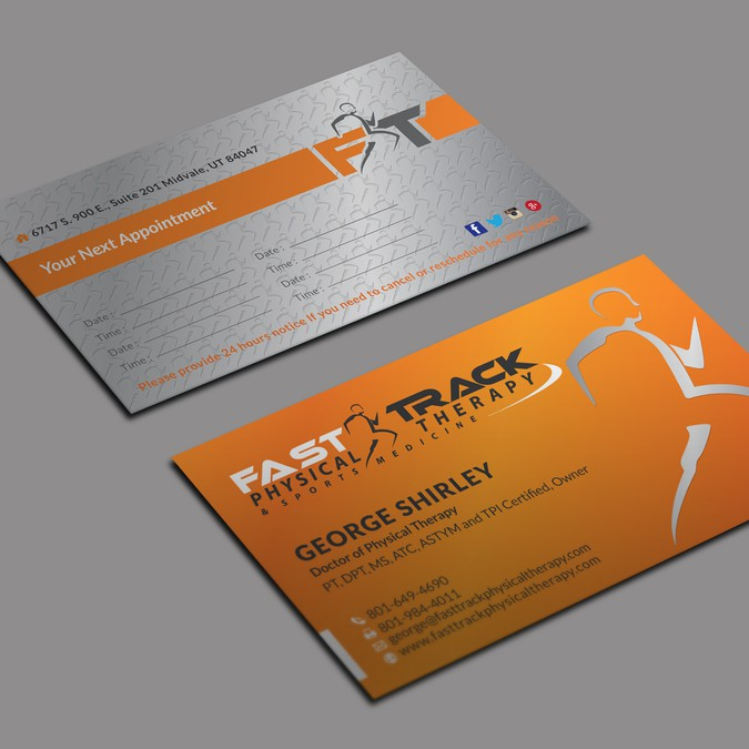 Physical Therapy Business Card Design For Sports M Winning By Kaylee Ck