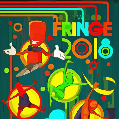 Guide Cover for the 2018 Hollywood Fringe Festival Design by pkhart
