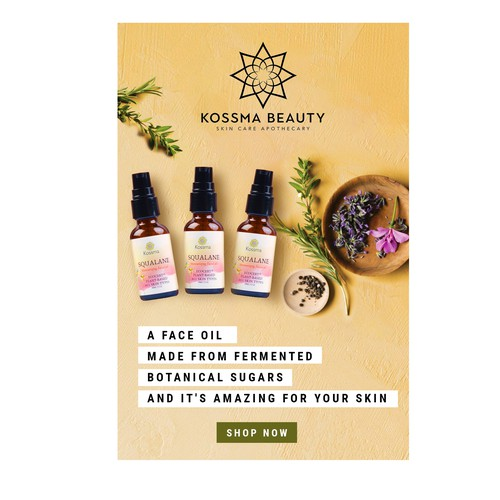 Design A Pinterest Ad Graphic For Natural Face Oil Banner Ad Contest 99designs
