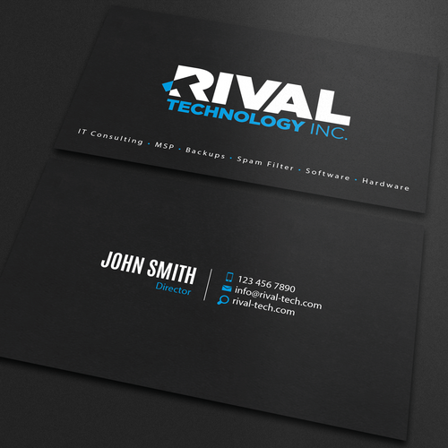 Technology business card business card contest runner up design by an designer reheart Choice Image