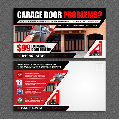 Create A 11 X 6 Garage Door Flyer Postcard Flyer Or
