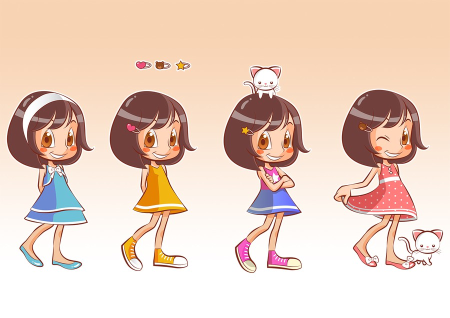 Cartoon Character Design Competition : Turn my daughter into a cartoon character illustration