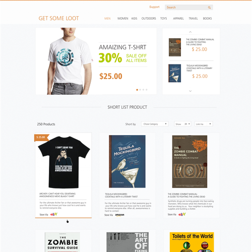 Friendly, New Product Listing Site | Web page design contest