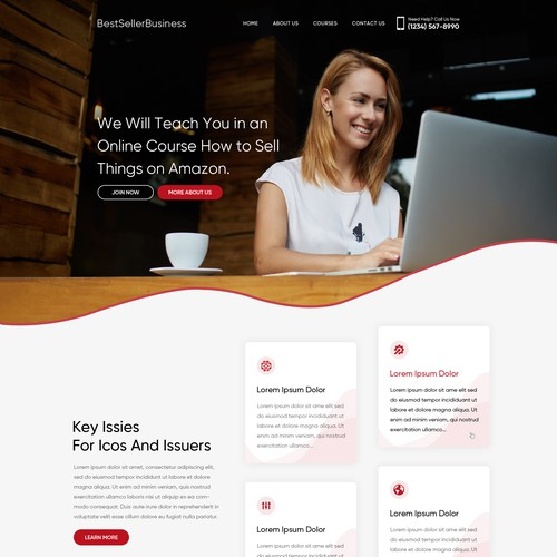 Runner-up design by Webenix Solutions