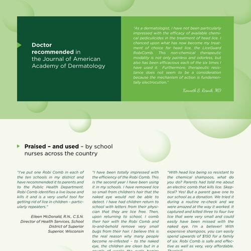 brochure design for LiceGuard LLC | Brochure contest
