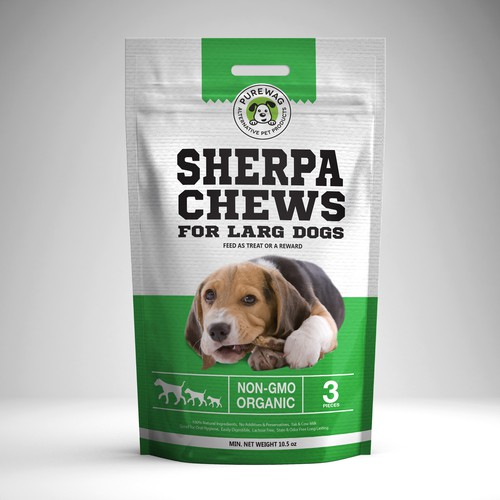 Purewag - Pet Products Packet Design Design by Dadolini