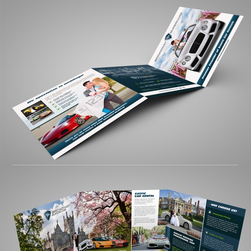 Cutting Edge Leaflet to promote Exotic Cars for Weddings Design by Adwindesign