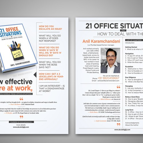 2-sided Flyer  - to promote Non-Fiction Book Design by Madhan (Lalitha)