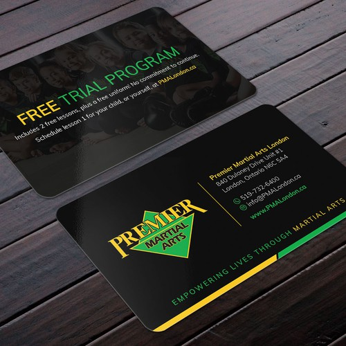 Premier martial arts business card design business card contest runner up design by felix sh reheart Image collections
