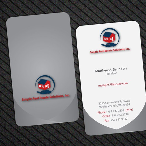 Business card for simple real estate solutions inc stationery contest runner up design by past99d reheart Choice Image