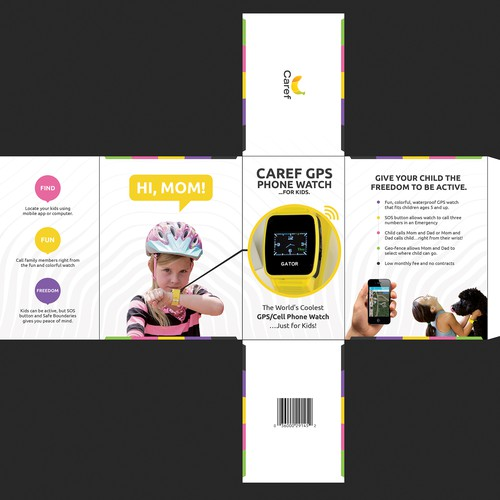 Kids Gps Watch Product Packaging For Retailers Product Packaging Contest 99designs