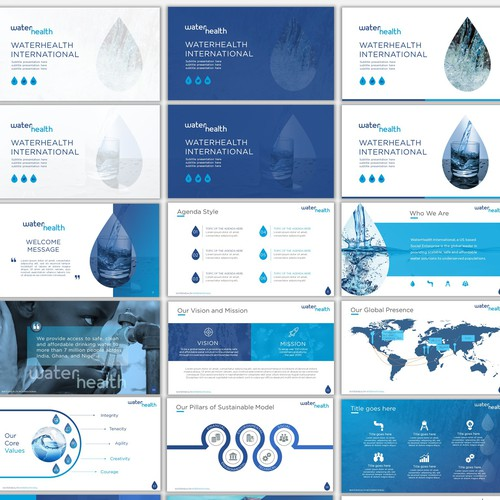 Revitalize A High Impact Water Company S Visuals Powerpoint Template Contest 99designs