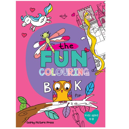Colouring Book Aimed At Girls Book Cover Contest