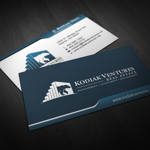 Design kodiak ventures new business card with exciting logo produced runner up design by frs reheart Image collections