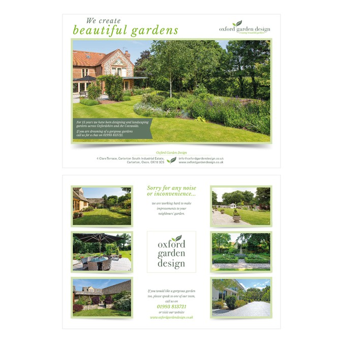 Gorgeous garden images to promote as a flyer Postcard flyer or