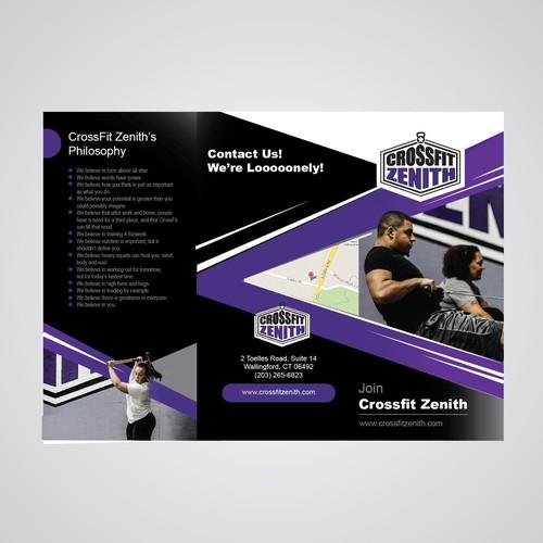 Make An Eye Catching Headboard: Create An Eye-catching Brochure For CrossFit Zenith
