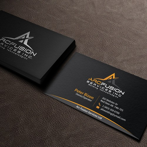 Business card for afs welding business card contest runner up design by ak graphics reheart Images