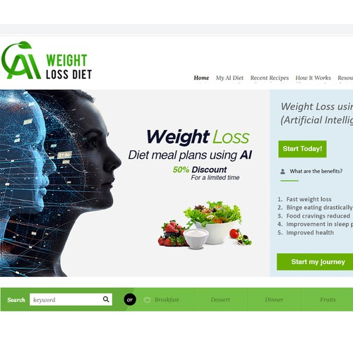 Large Banner Ad For Weight Loss Diet Website Banner Ad Contest 99designs