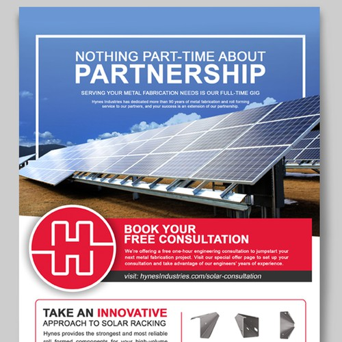 Design a Unique Solar Print Ad That Will Stand Out | Postcard, flyer