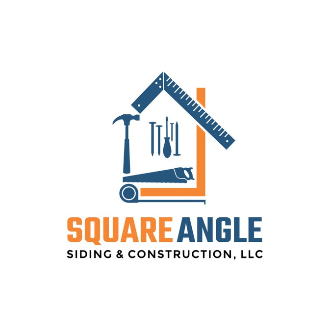 Siding And Roofing Construction Company Logo And Card