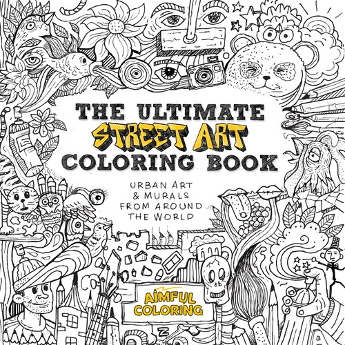 Expert Illustrator for Street Art Coloring Book Cover | Buchcover ...