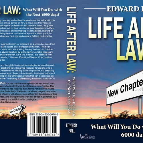 Law Book Cover Design : Create a book cover for lawbiz management s life